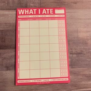What I Ate Magnetic NotePad Tracker